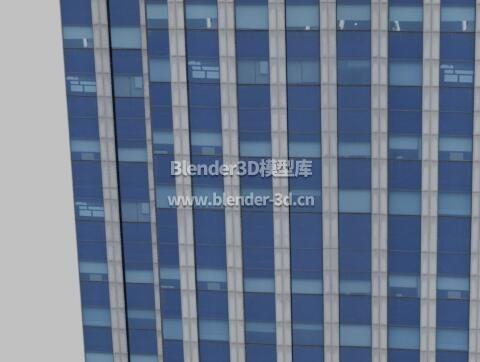 蓝色跃层大厦大楼写字楼办公楼