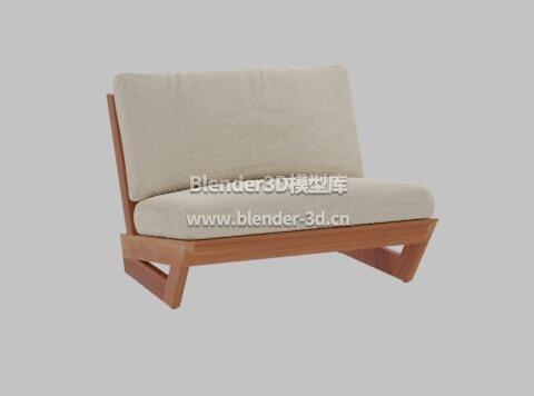 日落布艺躺椅子