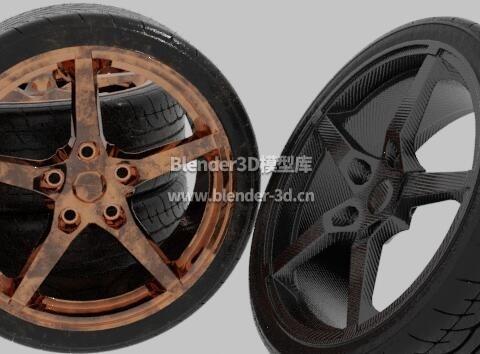 干净脏污汽车运动轮胎