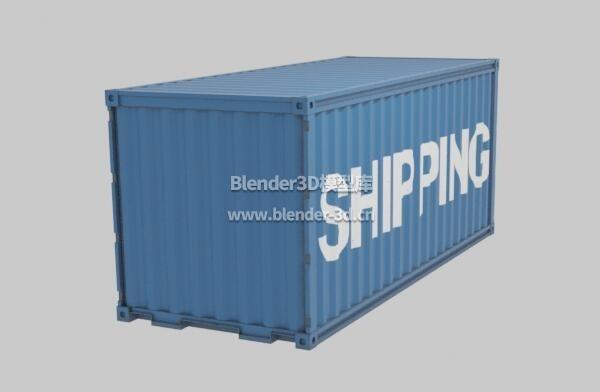 蓝色20英尺货柜集装箱
