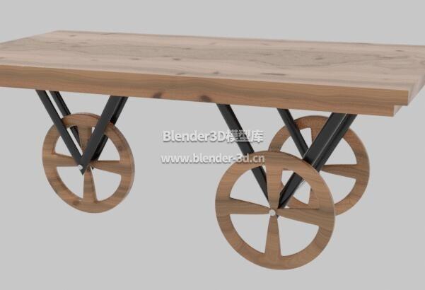 木板三轮桌子