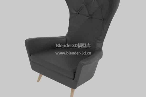 50年代皮革翼椅子沙发