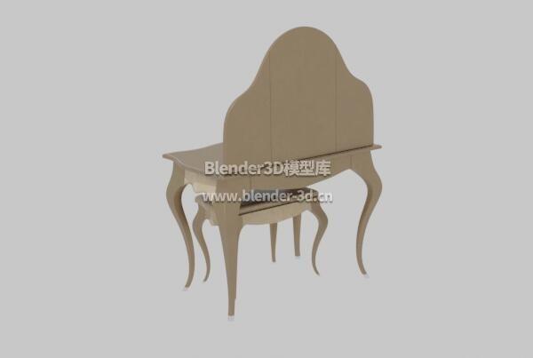 金色巴洛克梳妆台带凳子