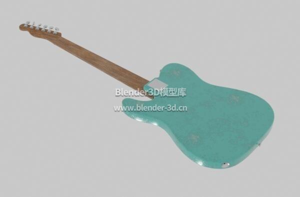 绿色污渍电吉他
