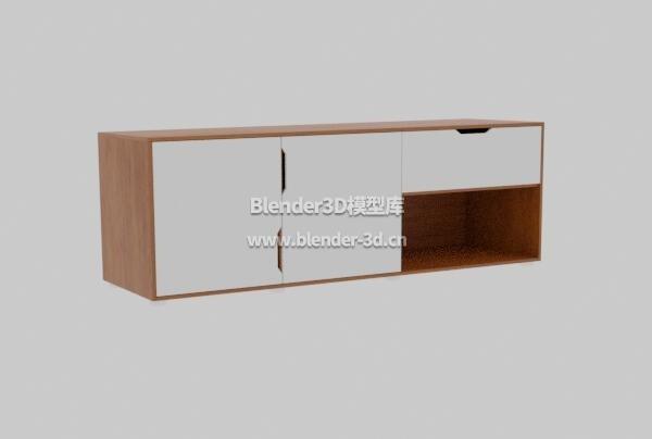 实木餐具柜子边柜