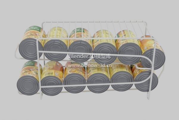 贩卖机易拉罐货架