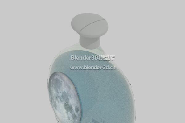 瓶装蓝色洗发水