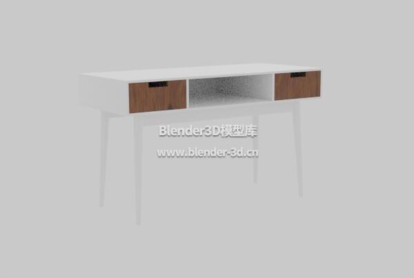 白色长条抽屉桌子