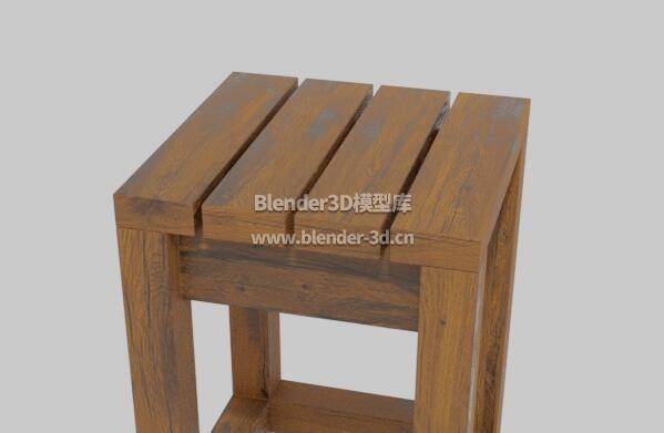 户外旧木凳子