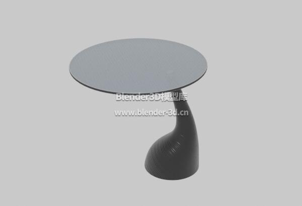 黑色圆桌子